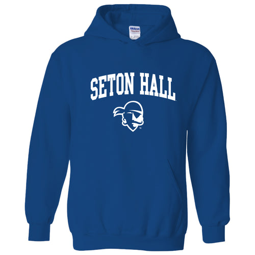 Seton Hall University Pirates Arch Logo Heavy Blend Hoodie - Royal