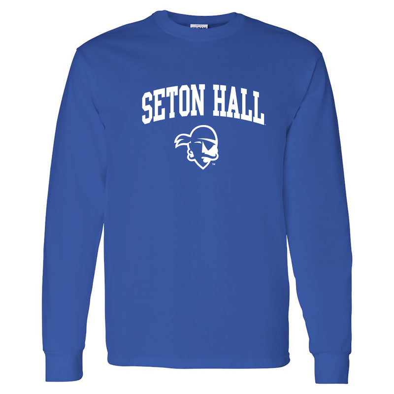 Seton Hall University Pirates Arch Logo Long Sleeve T-Shirt - Royal