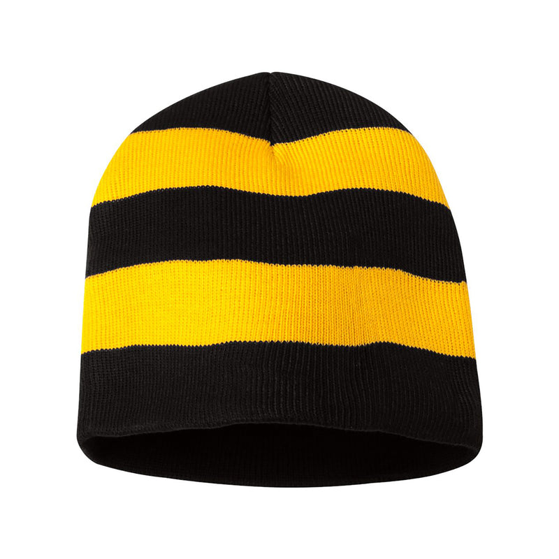 Rugby Striped Hat - Black / Gold