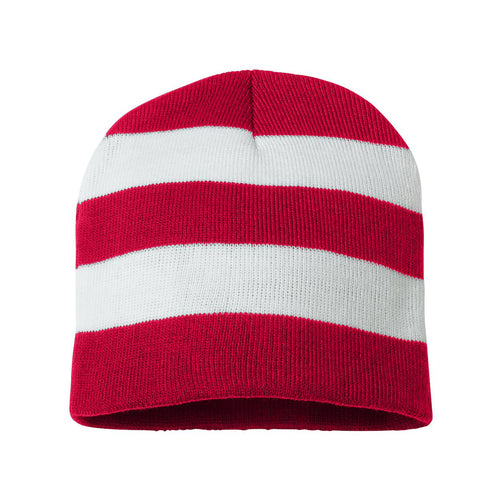 Rugby Striped Hat - Red / White