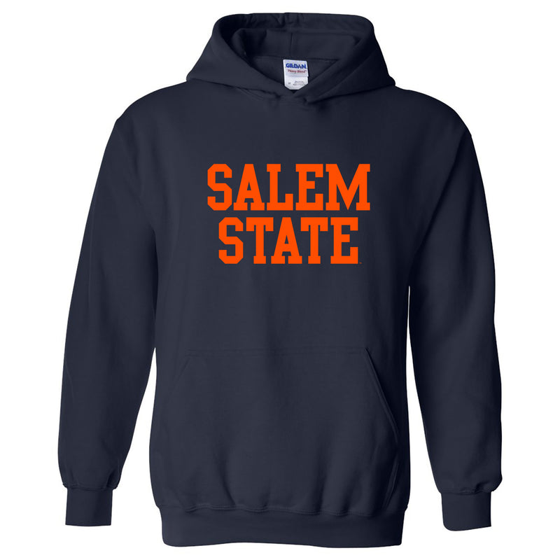Salem State University Vikings Basic Block Heavy Blend Hoodie - Navy