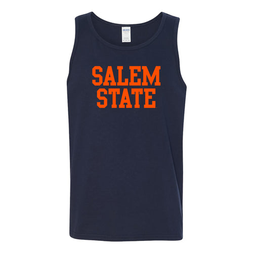 Salem State University Vikings Basic Block Tank Top - Navy