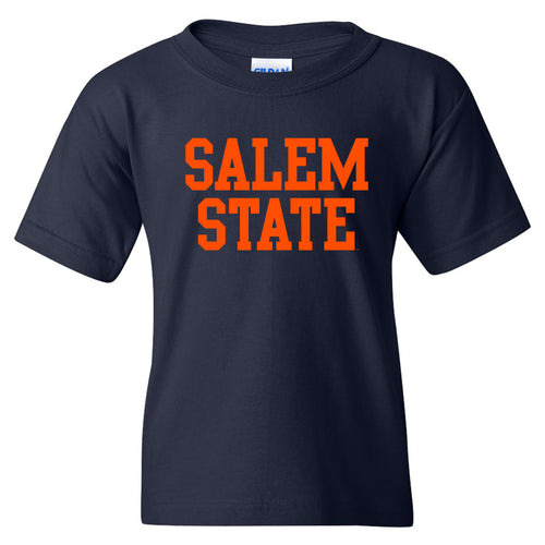 Salem State University Vikings Basic Block Youth Short Sleeve T Shirt - Navy