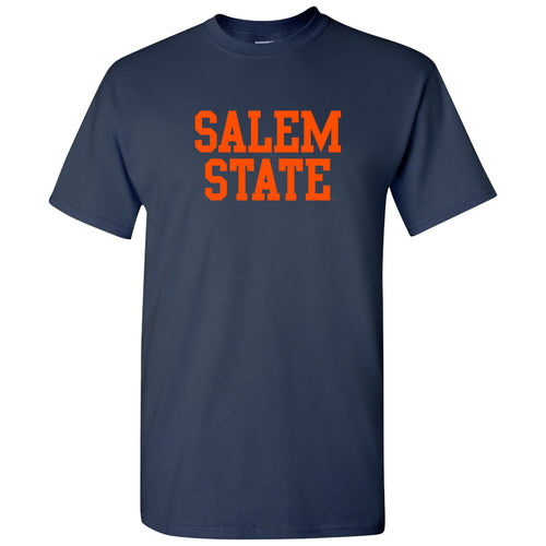 Salem State University Vikings Basic Block Short Sleeve T Shirt - Navy