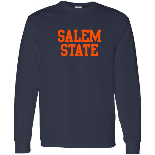 Salem State University Vikings Basic Block Long Sleeve T-Shirt - Navy