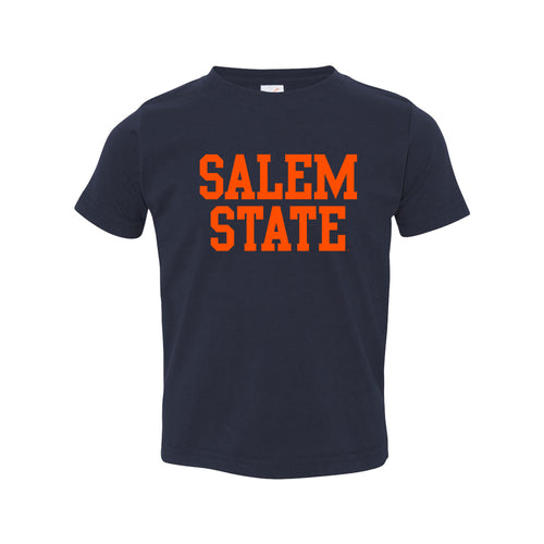 Salem State University Vikings Basic Block Toddler Short Sleeve T Shirt - Navy