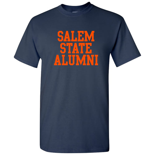 Salem State University Vikings Alumni Basic Block Short Sleeve T Shirt - Navy