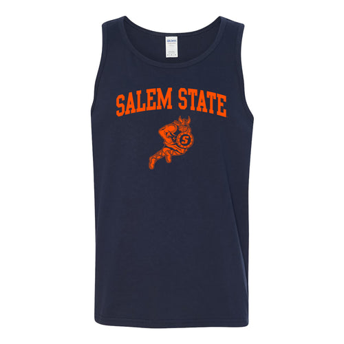 Salem State University Vikings Arch Logo Tank Top - Navy