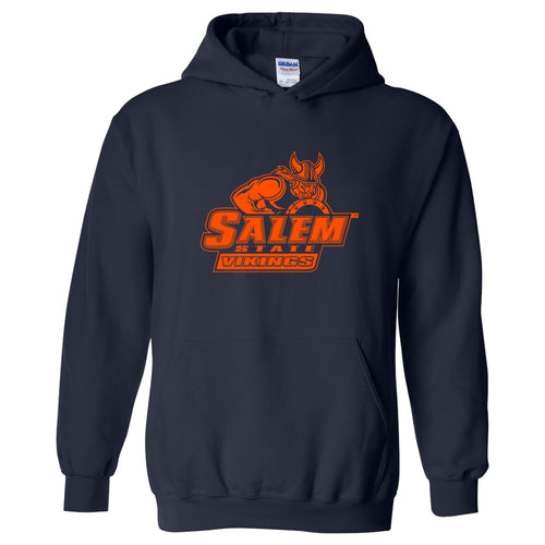 Salem State University Vikings Primary Logo Heavy Blend Hoodie - Navy