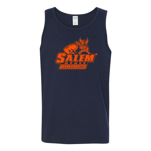 Salem State University Vikings Primary Logo Tank Top - Navy