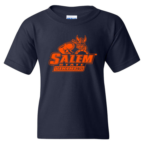 Salem State University Vikings Primary Logo Youth Short Sleeve T Shirt - Navy