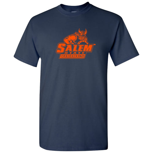 Salem State University Vikings Primary Logo Short Sleeve T Shirt - Navy
