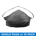 Stock Mfg. 100% Cotton USA Made Face Mask - Black Chambray