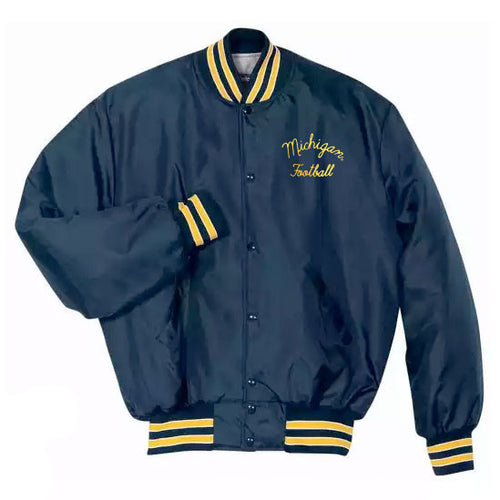 Bo Schembechler University of Michigan Football Heritage Jacket - Navy