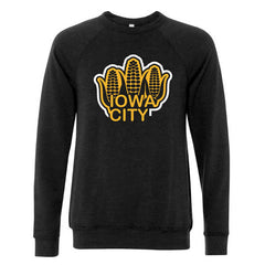 Iowa City Corn Sponge Fleece - Black