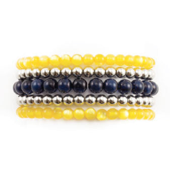 Michigan 5 Row Beaded Bracelet