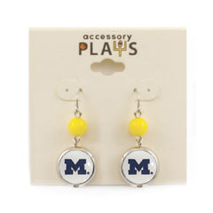 Block M Drop Earrings