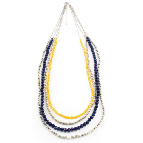 Michigan NK 32in Beaded Necklace