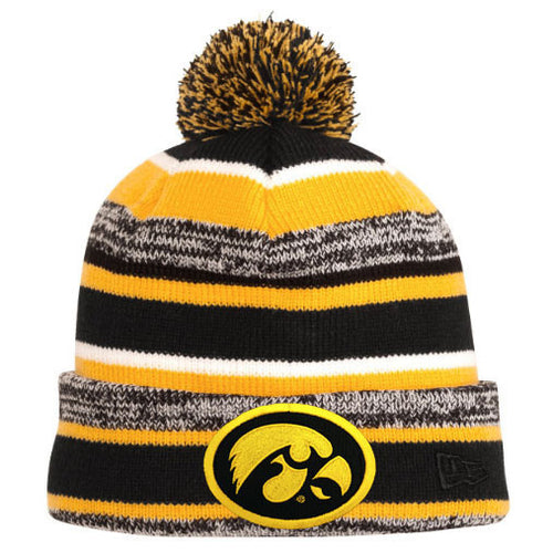 Hawkeye Sideline Pom Hat - Black/Gold