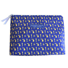Bo Pattern Vineyard Vines Makeup Bag - Navy