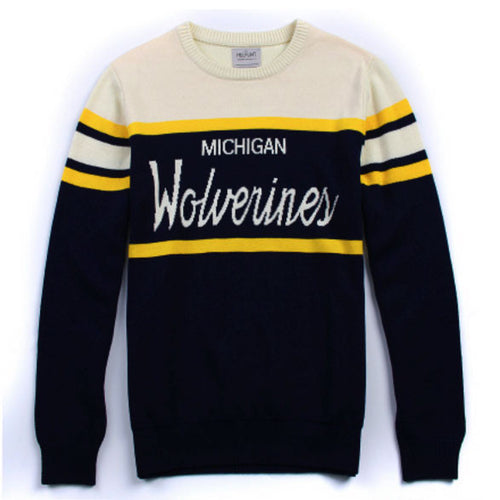 University of Michigan Hillflint Tailgating Sweater - Navy