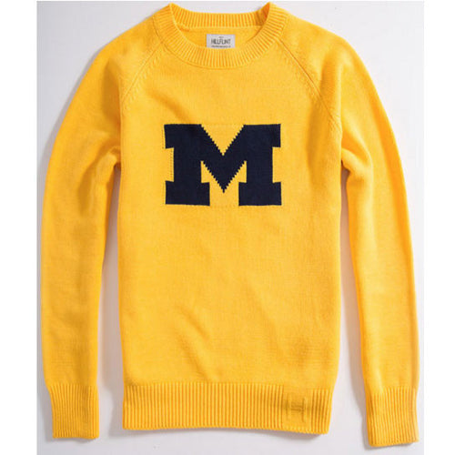 UM Hillflint Heritage Sweater - Maize