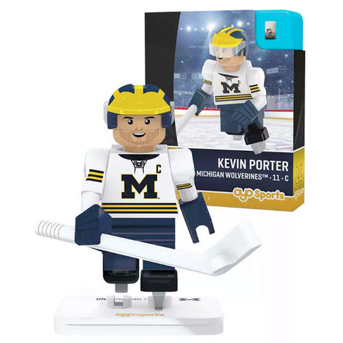 University of Michigan Hockey Kevin Porter Minifigure