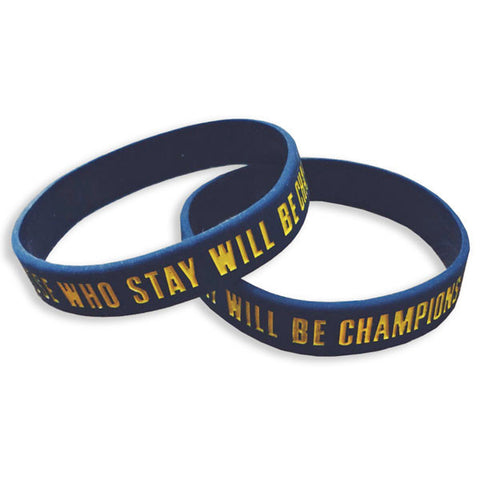 Those Who Stay Will Be Champion Wristband - Navy (Single Wristband)