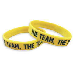 Team Team Team Wristband - Maize (Single Wristband)