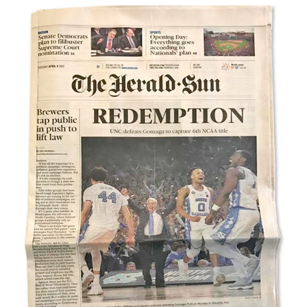 UNC17 Herald-Sun Newspaper
