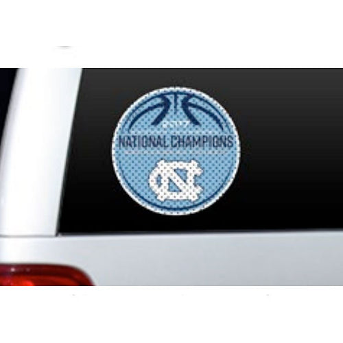 University of North Carolina National Champions 2017 Window Decal