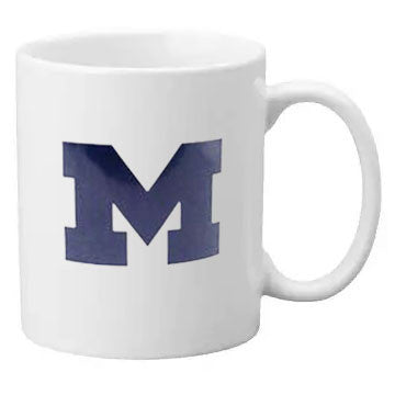 Primary Logo University of Michigan Neil Line 11oz Ceramic Mug - White
