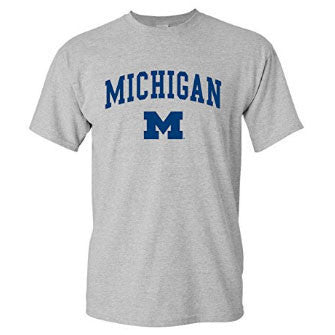 Michigan Arch Logo - Sport Grey