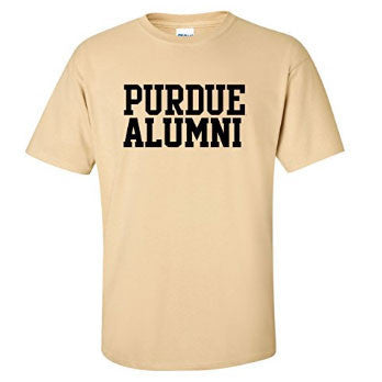 Purdue Boilermakers Basic Block Alumni Short Sleeve T Shirt - Vegas Gold
