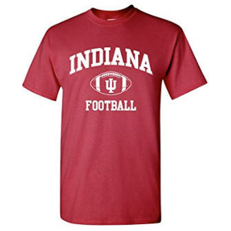 Indiana University Hoosiers Classic Football Arch Short Sleeve T-Shirt - Cardinal