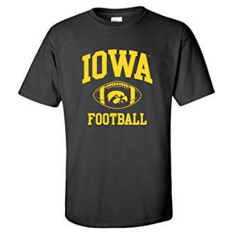 Classic Football Arch Iowa - Black