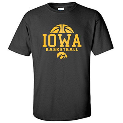 University of Iowa Hawkeyes Basketball Hype Short Sleeve T Shirt - Black