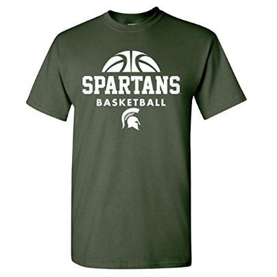 Michigan State University Spartans Basketball Hype Short Sleeve T Shirt - Forest Green