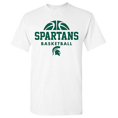 Michigan State University Spartans Basketball Hype Short Sleeve T-Shirt - White