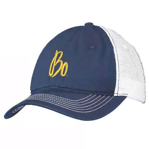 Bo Sig Mesh Back Hat - Navy/White