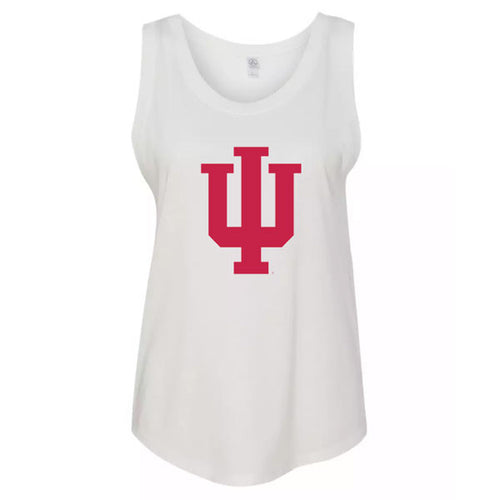 Indiana University Hoosiers Trident Womans Modal Muscle Tee - White