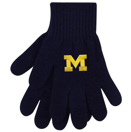 Block M Primary Logo University of Michigan Logofit Tailgate Glove - Navy
