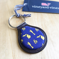 Bo Pattern Vineyard Vines Key Fob - Maize/Blue