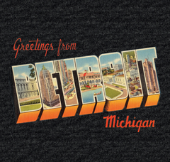 Greetings From Detroit - Vintage Black