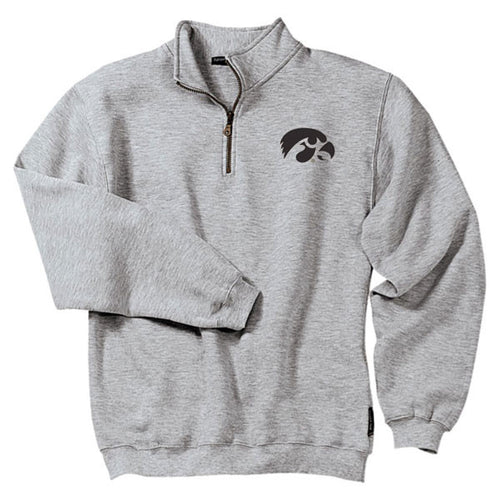 Iowa Primary Logo 1/4 Zip - Athletic Heather
