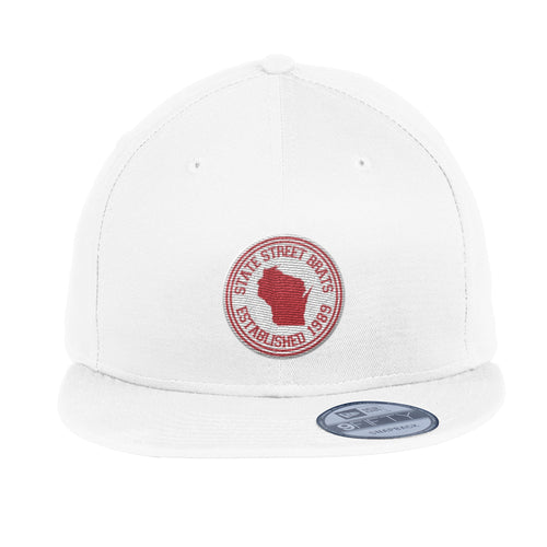 State Street Brats Circle Logo Flatbill Adjustable Hat - White