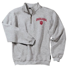 IU Quarter Zip - Athletic Grey/Red