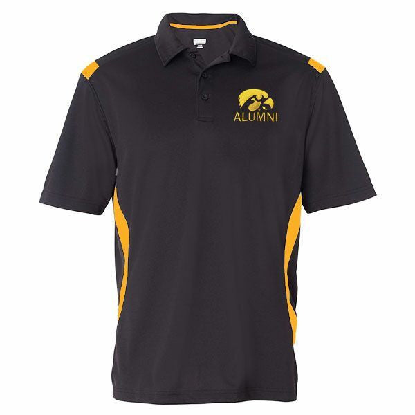 Iowa Alumni Polo - Black/Gold