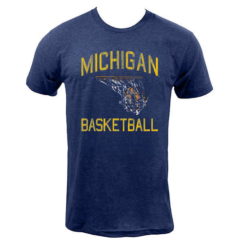 Michigan Faded BBall - Indigo
