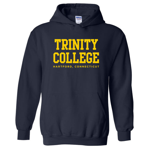 Trinity College Bantams Basic Block Heavy Blend Hoodie - Navy
